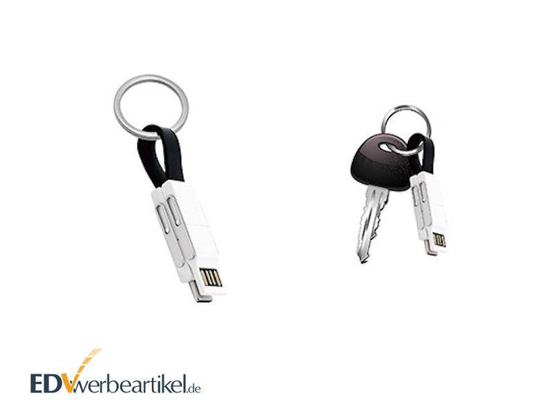 Quick Charge USB Schnellladekabel 2A Schlüsselanhänger BIRDY als Werbeartikel