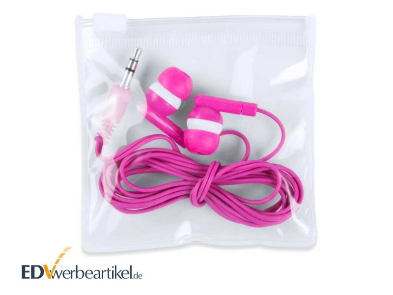 Ear-Plugs RAINBOW mit 3,5 mm Klinkenstecker als Werbeartikel