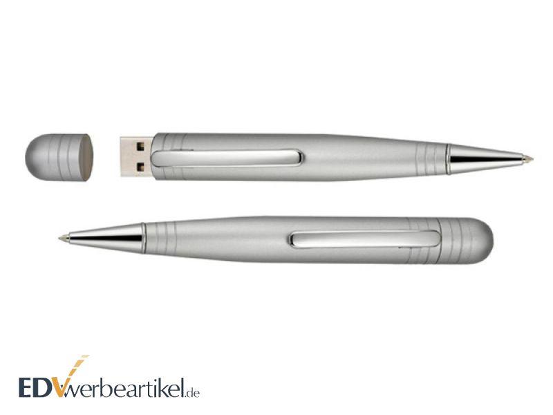 USB Kugelschreiber Werbegeschenk in weiß
