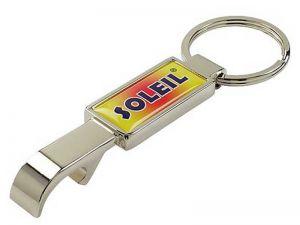 Flaschenöffner Schlüsselanhänger Metall mit Logo