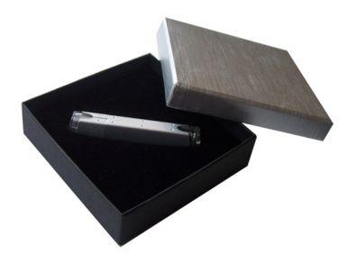 Geschenk Box mit Deckel Schwarz Silber