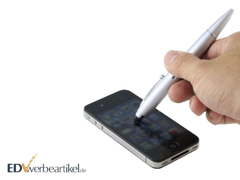 Büro Werbeartikel: USB Kugelschreiber Touch pen mit Firmenlogo