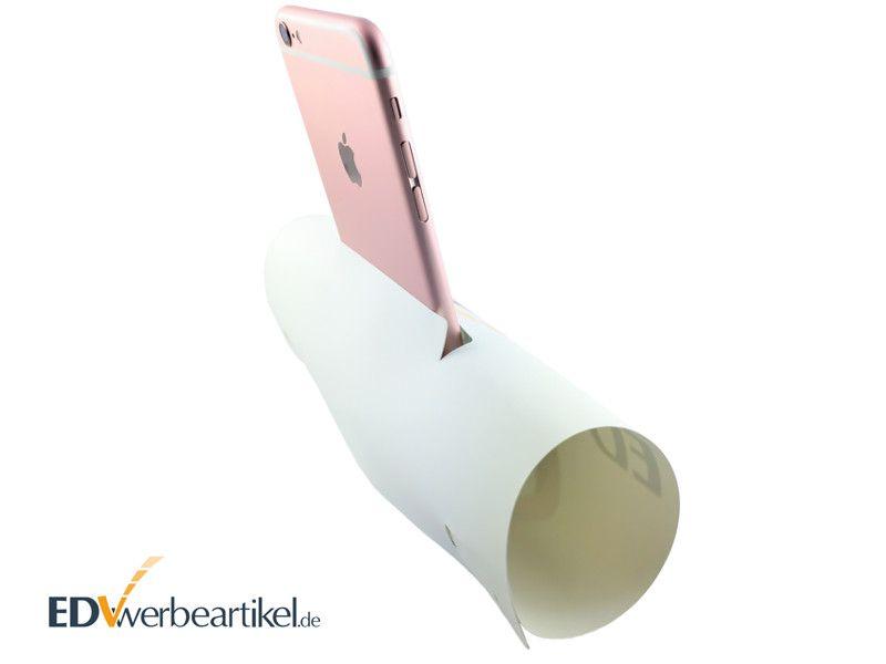 Smartphone Handyhalter mit Lautsprecher Verstärker AMPLIFIER als Werbeartikel