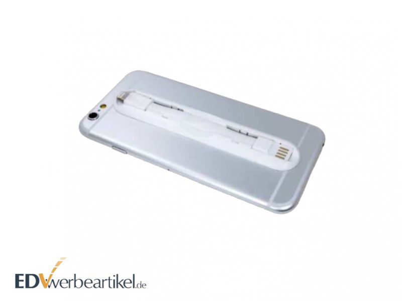2-in-1 Fingerholder und USB Ladekabel Werbeartikel
