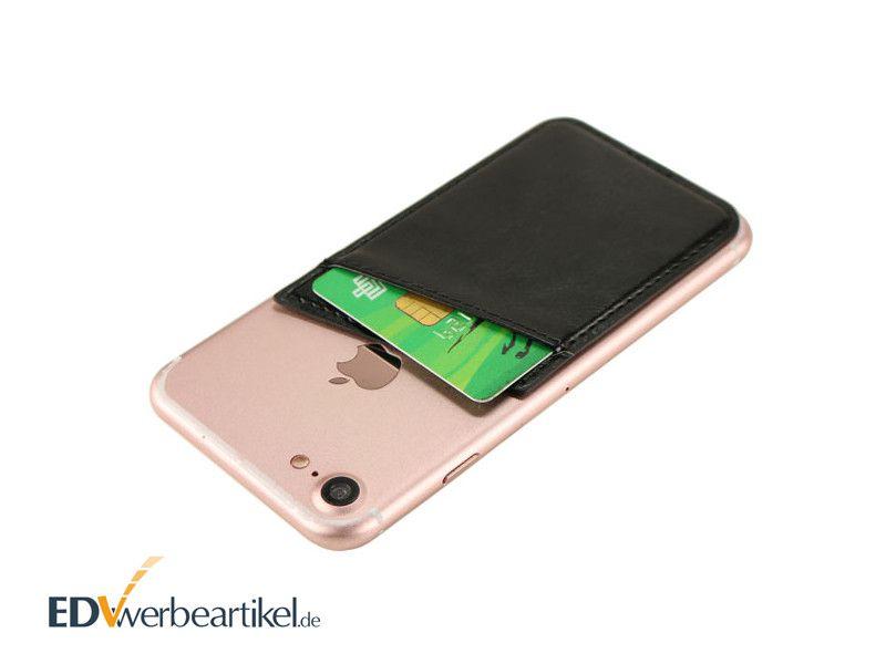 Smartphone Werbeartikel Kartenhalter mit Firmenlogo prägen WALLET