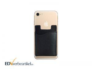 Smartphone Werbeartikel Giveaway Kreditkartenhalter mit Logo prägen WALLET