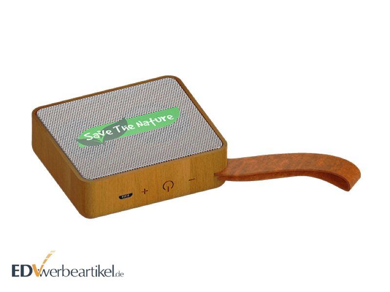 Lautsprecher aus Buchenholz BEECH mit Logo
