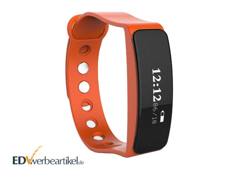 Sport Werbeartikel Fitness Armband bedrucken mit Logo - Rot