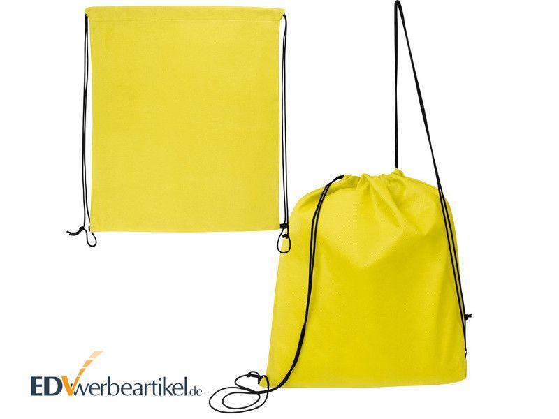 Sportbeutel in Gelb als FITNESS Werbeartikel