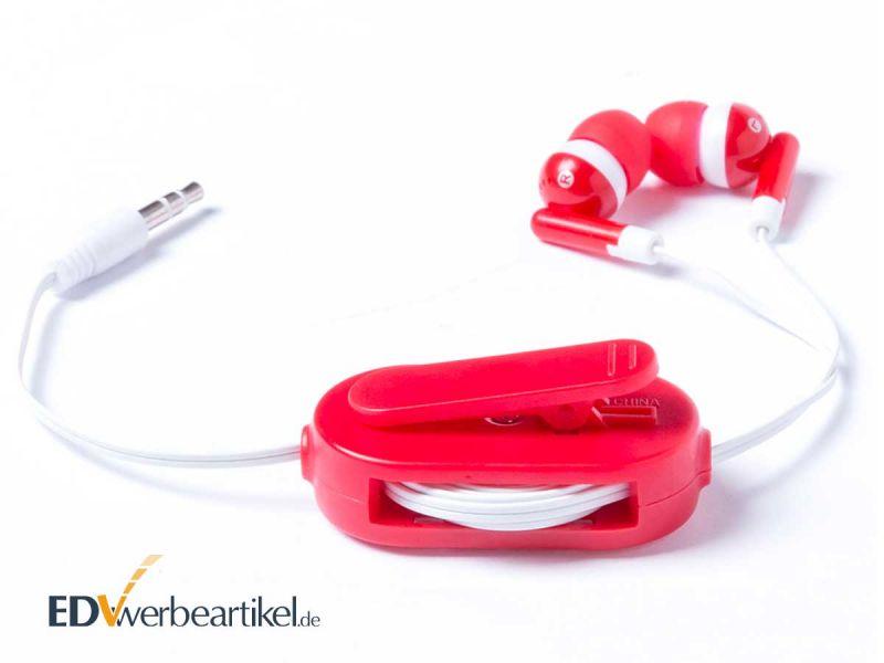 In Ear Headset mit Logo als Werbegeschenk