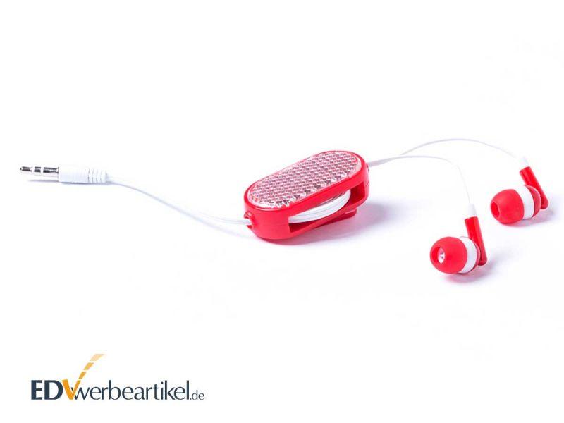 In-Ear Lautsprecher mit ausziehbaren Kabel als Give-Away mit Ihrem Logo