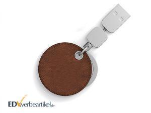 USB Stick Schlüsselanhänger aus Leder als Giveaway