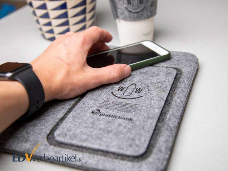 Bag SUSTAINABLE für mobile Computer und Handys als Werbegeschenk
