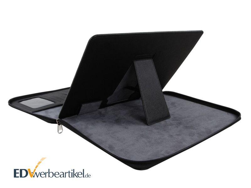 Tablet Dokumentenmappe iPad Konferenzmappe mit Logo bedrucke Standfunktion Ständer