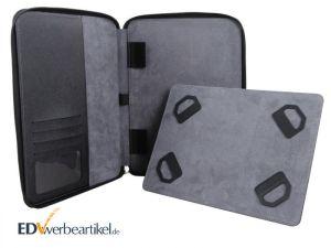 Tablet Dokumentenmappe iPad Konferenzmappe mit Logo prägen bedrucken Druck Prägung Werbegeschenk