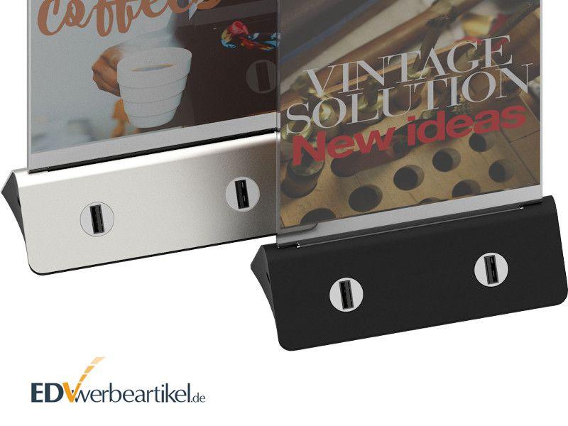 Tisch Ladegerät Powerbank Tischaufsteller Werbeartikel Werbemittel