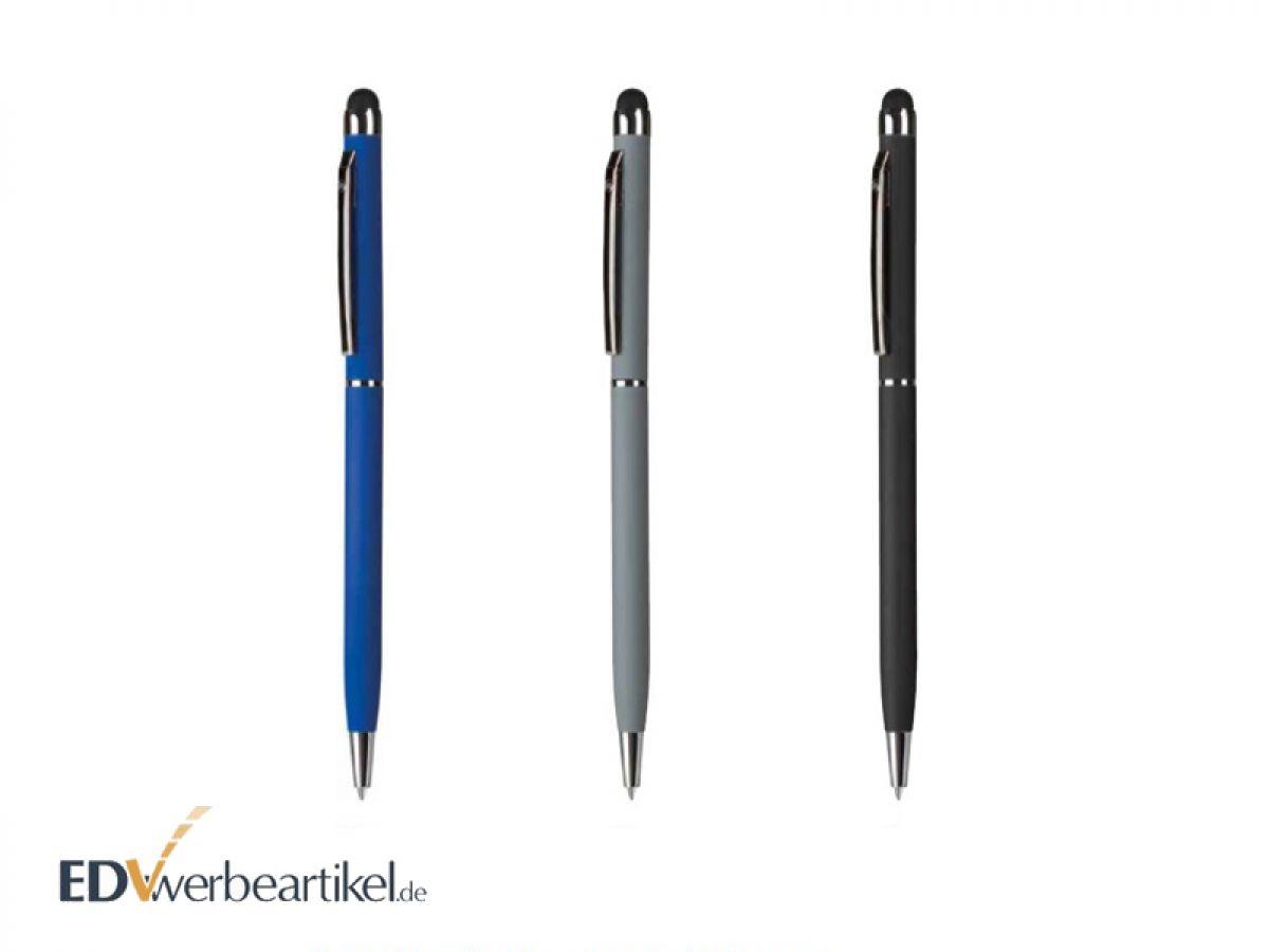 slim touchpen kugelschreiber mit farbiger spitze als werbeartikel. Black Bedroom Furniture Sets. Home Design Ideas