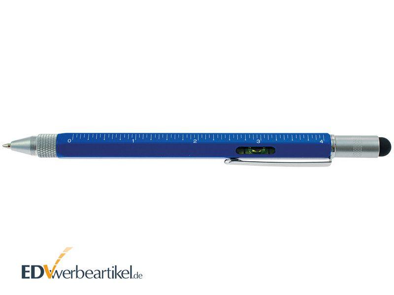 Touchpen Kugelschreiber in blau mit Logo