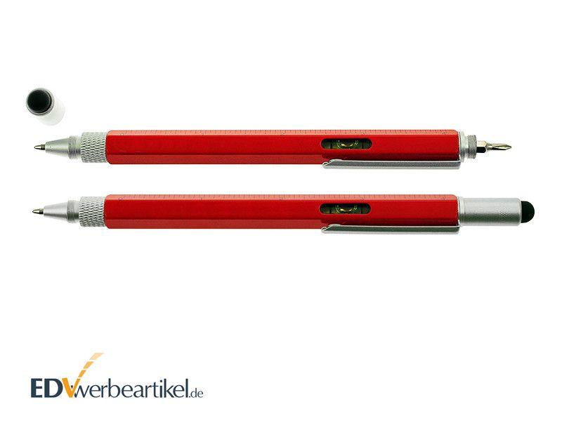 Touchpen Kugelschreiber in Rot als Werbeartikel