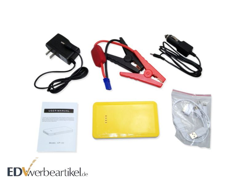Travel Set Powerbank 7500 mAh mit Motorklemme