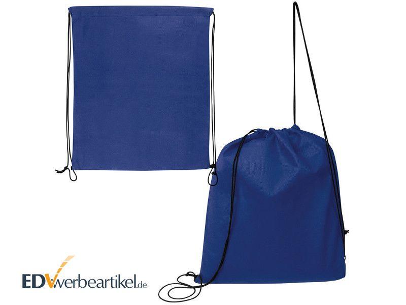 Turnbeutel in blau als FITNESS Werbegeschenk