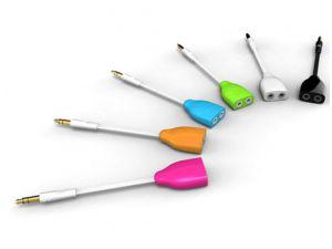 universal Kopfhörer-Splitter in vielen verschiedenen Farben
