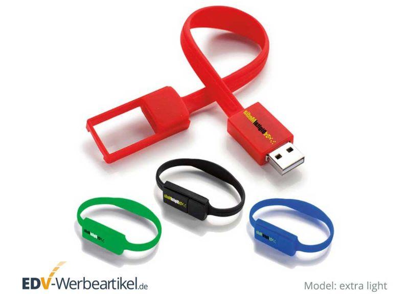 USB Armband EXTRA LIGHT mit Druckbeispielen