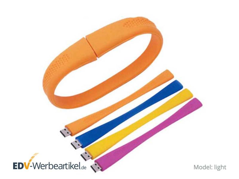 USB Armband LIGHT mit Logodruck als Werbeartikel