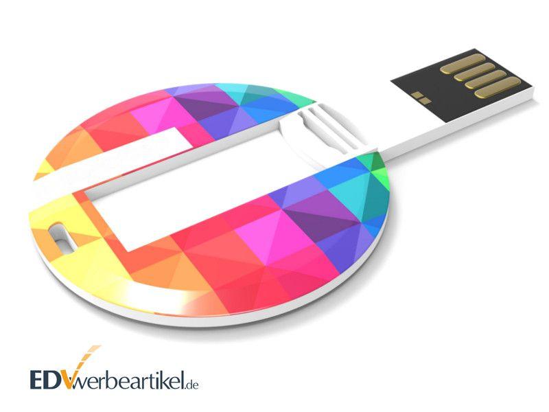 Runde USB Karte COIN mit Vollfarbdruck als Werbeartikel