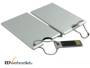 USB Karte bedrucken - Visitenkarte aus Aluminium als Werbeartikel mit Logo
