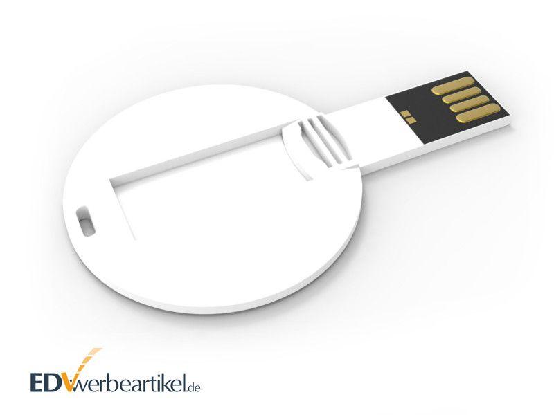 Runde USB Karte COIN als Werbegeschenk