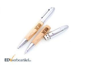 USB Kugelschreiber WOODEN Werbeartikel