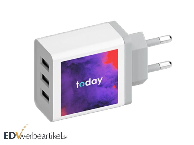 USB Ladeadapter ALL-IN mit Logo