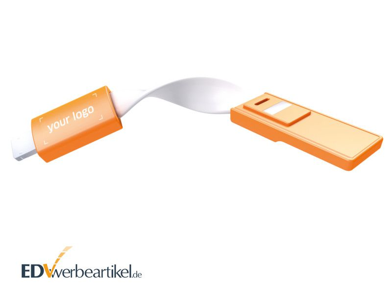 USB Ladekabel Schlüsselanhänger mit Logo