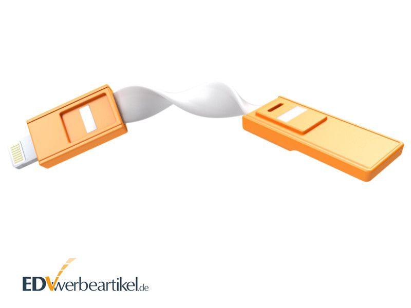 USB Ladekabel Schlüsselanhänger mit Werbung