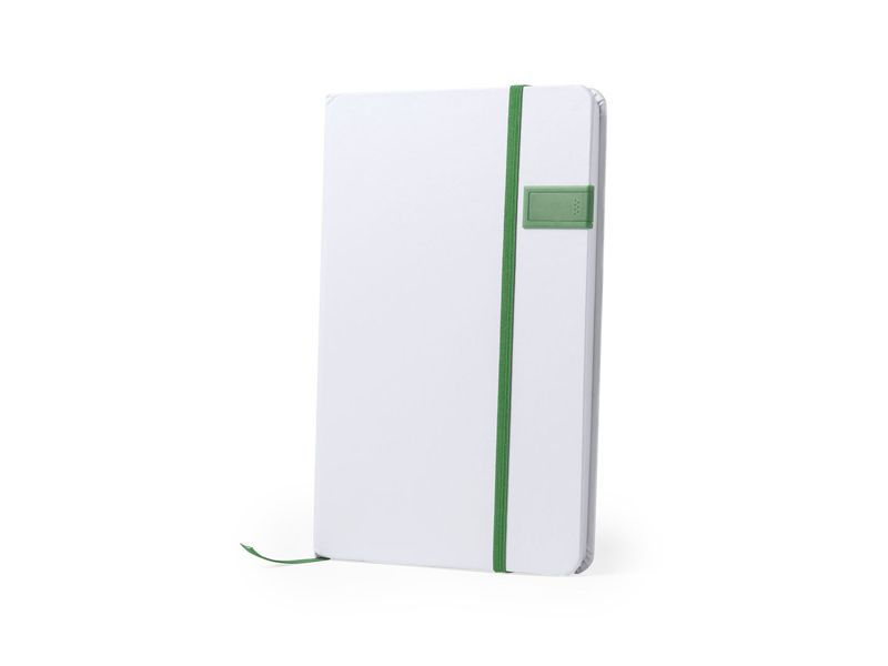 USB Stick im Notizbuch JOURNAL - white green