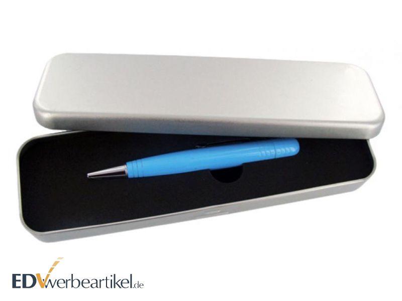USB Kugelschreiber mit Metall Etui als Werbegeschenk