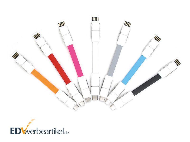 4in1 Mini USB Schnellladekabel 2A Schlüsselanhänger BIRDY mit Logo bedrucken