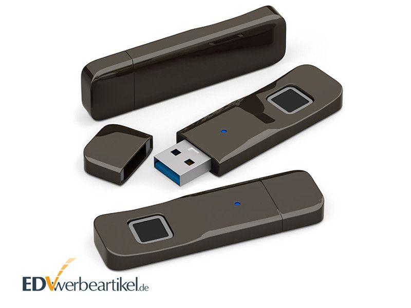 USB Stick biometrisch mit Fingerabdrucksensor als Werbeartikel