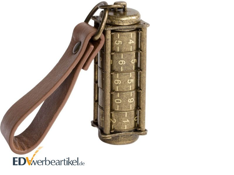 USB Stick Bronze als Werbemittel LOCKED ANTIQUE