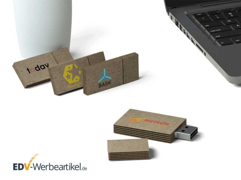USB Stick CARDBOARD mit großer Druckfläche für Ihre Werbebotschaft