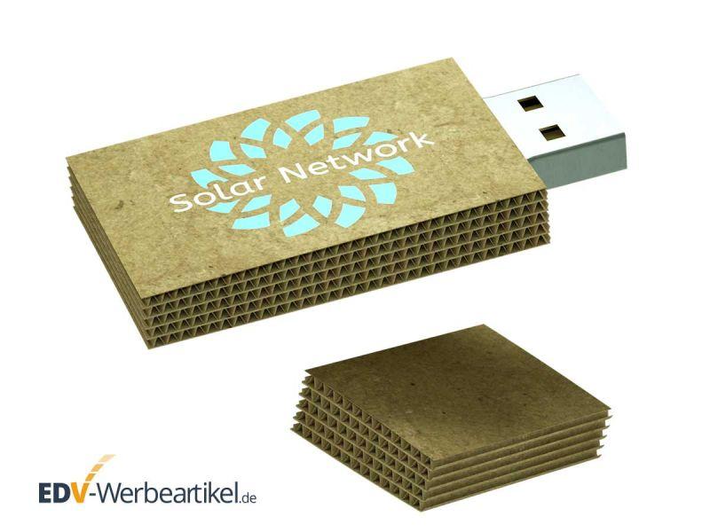 USB Stick CARDBOARD - beidseitig bedruckbar mit Ihrem Logo, Ihrer Werbung