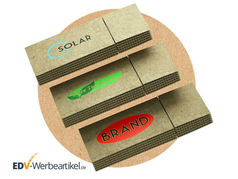 USB Stick CARDBOARD aus Pappe, Karton, Wellpappe und Papier