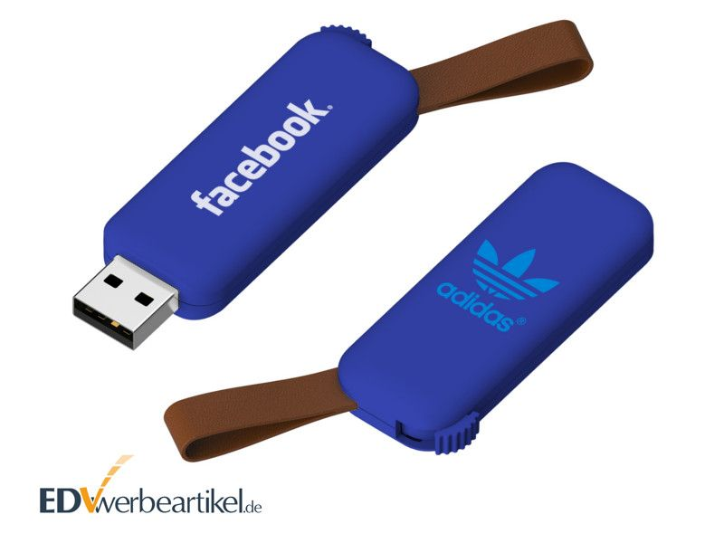 USB Stick mit Firmenlogo RODEO - blau