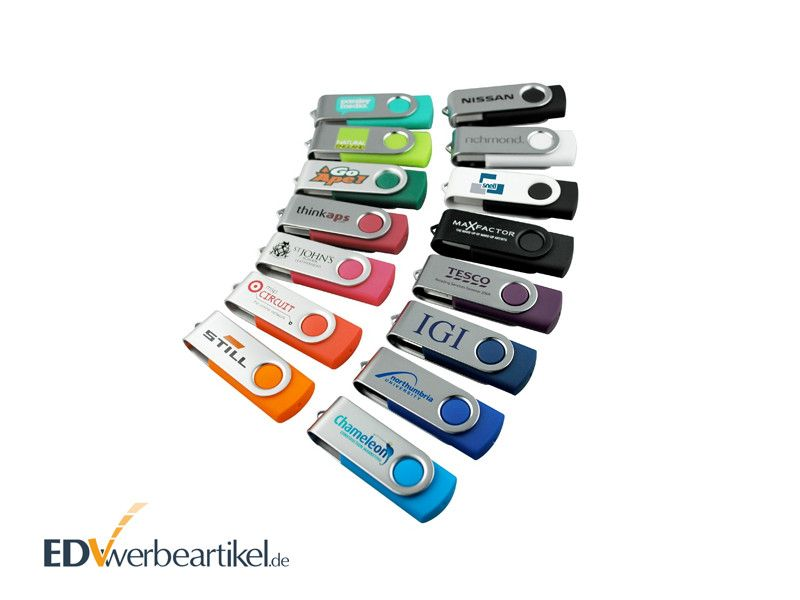 USB Stick FLIP als 1000er Pack in Wunschfarbe bedrucken