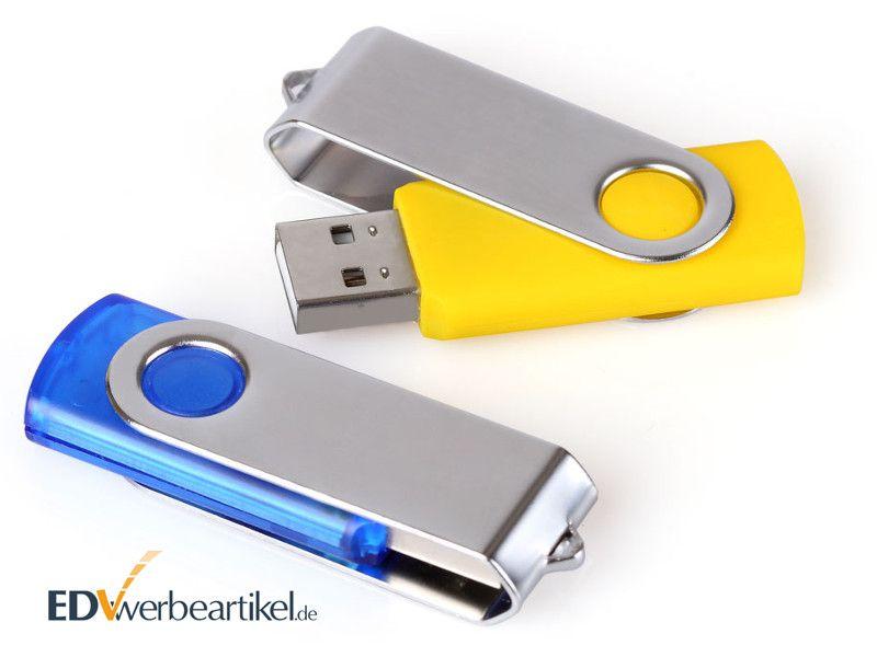 günstiger Werbeartikel USB Stick FLIP als 1000er Pack mit Logo