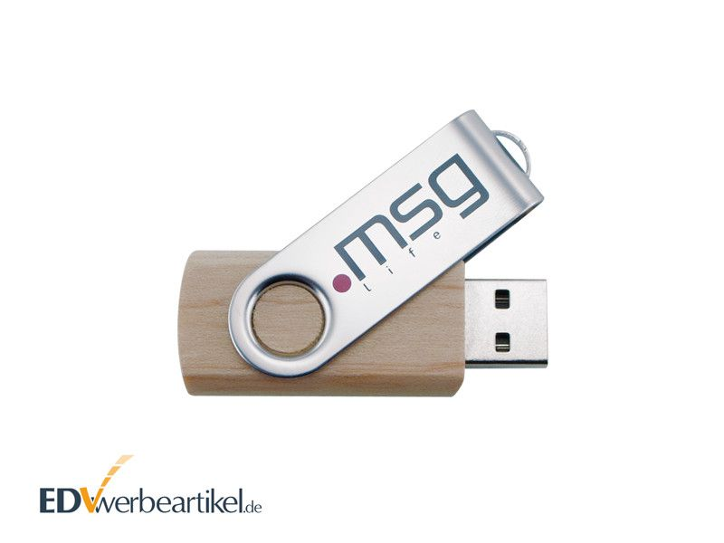 USB Stick FLIP Holz mit Logo