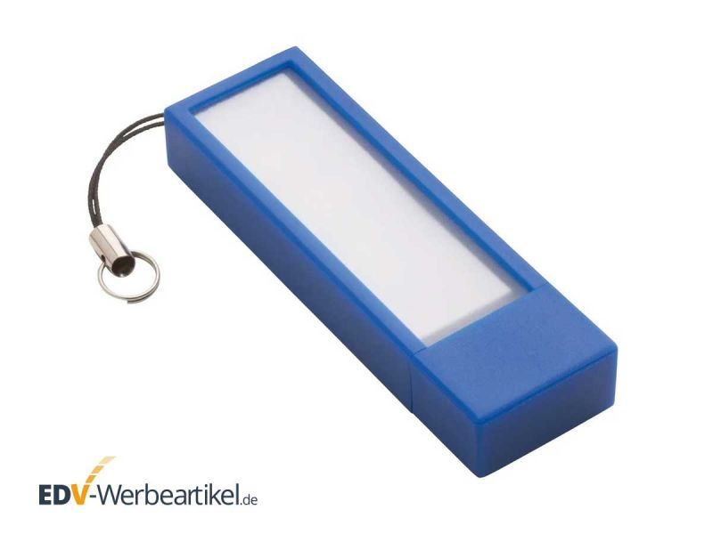 USB Stick mit Zetteln STICKY blau blue