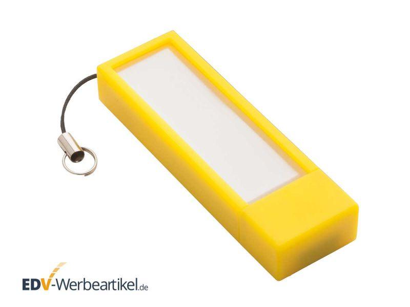 USB Stick mit Notizzetteln STICKY gelb yellow