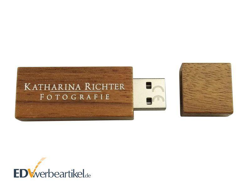 USB Stick Holz Werbemittel bedrucken - Produktbeispiel